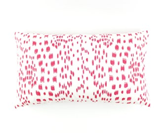 ON SALE Brunschwig & Fils/Lee Jofa Les Touches Pink Pillows (14 X 24)