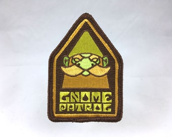 Gnome Patrol embroidered patch