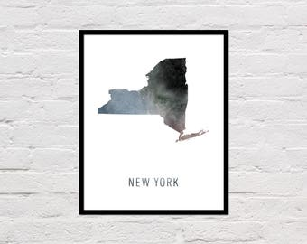 new york map print new york art print new york printable wall art watercolor map new york poster printable new york state map download
