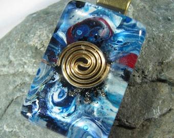 Shungite and Pyrite Orgone Pendant