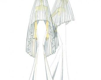 Pleated Veil - Tulle #2