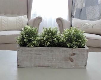 Wood Crate - Planter Box - Farmhouse Table - Custom Centerpiece - Rustic Decor