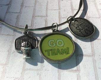 Sport charm bracelet, basketball charm bracelet