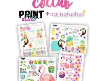 Sweet Paradise 2 sheets only Bible JournalingDigital Download Printable
