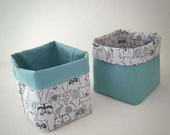 Reversible fabric baskets / storage baby