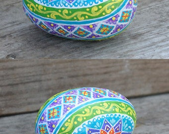 Hand Painted Wooden Easter Egg