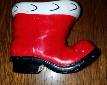 Vintage Ceramic Santa Boot