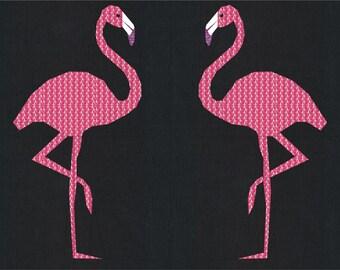 Flamingo- A Foundation Paper Pieced Bird Safari Quilt Pattern- 12 x 16 Inch