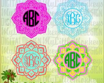 Mandala SVG ~ Mandala Monogram SVG ~ 2 Color ~ 3 Color Mandala ~ Monogram Svg ~ Commercial Use SVG ~ Cut File ~ Clipart ~ svg-dxf-eps-png