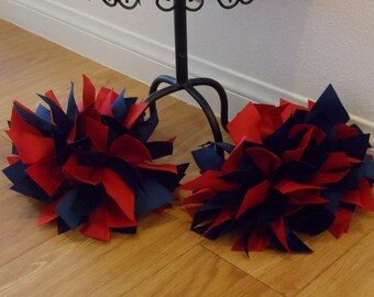 25% OFF--Ribbon Cheer Pom Poms--Sports Team--Pretend Play--Available in YOUR Choice of COLORS
