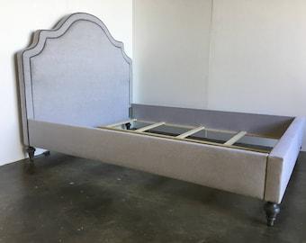 Custom Upholstered Bed W/Curved Headboard- COM