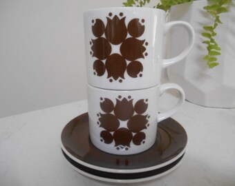 "Retro Vintage ""Kelco"" Schmid Kreglinger Porcelain Cup & Saucers"