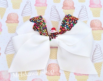 Hot Fudge Sundae Hair Bow