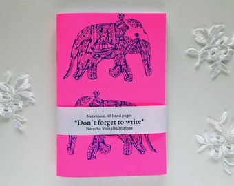 elephant notebook | elephant journal | indian journal | stationery gift | elephant pad |diary |elephant daybook|screenprinting |letmeflyveen