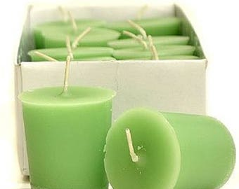Anjou Pear & Buttered Rum Scented 15 Hour Soy Votive Candles Pick A Pack