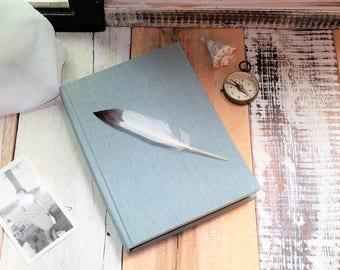 Natural Linen Journal or Sketchbook, Writing Journal, Unlined Notebook, Blank Journal, Blank Diary, Blank Notebook