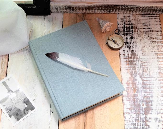 "Linen Journal or Sketchbook in ""Sky Blue"""