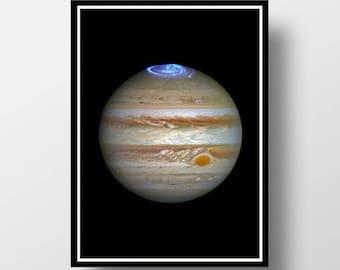 Jupiter Print, Planet Print, Planet Wall Art, Space Wall Art, Jupiter Wall Art, Jupiter Photography, Space Print,  Planet  Art, Cosmos Art