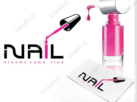 Good Premade Nail Salon Logo, Nail Art Logo, Nail Technician Logo, Beauty Logo,  Hair Salon Logo, Blog Logo, Business Logo, Logo Design, Pink Logo