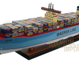 "Maersk Line Triple E Container Ship Model 39"" Handcrafted & ready for display"