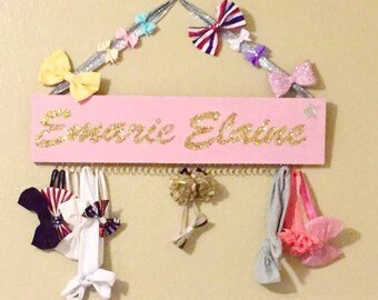 CUSTOM headband holder | accessory organizer | bow holder | headband holder