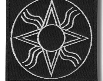 God Annunaki - embroidered patch, 8x8 cm