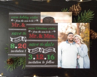 Warm Holiday Wishes Save the Dates • Holiday Save the Date • Christmas Wedding Save the Dates • Save the Date Christmas Card