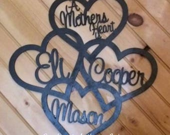 Personalized Heart Wall Decor
