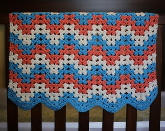 Easy CROCHET PATTERN Baby Easy Blanket Afghan Newborn Car Seat Stroller Beginner Build A Granny Chevron