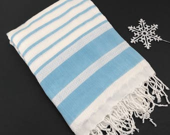 Book Lover Gift Turkish Towel Beach Throw Large Scarf Shawl Blue Shawl Pink Blanket Personalized Gift for Her Monogram Scarf Monogram Shawl