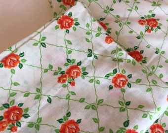 Vintage Pillowcases, Rose and Lattice, Glamping