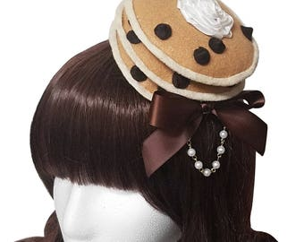 Sweet Chocolate Chip Pancakes and Whipped Cream Barrette - Made to Order