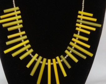 Upcycled Unique Knitting Needle Necklace.  The perfect gift for Knitters.