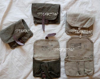 RED ARMY issue Genuine 1940-1970s USSR Grenade Pouch (3 Grenades per pouch)
