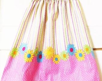 Handmade Girls Skirt Daisy's Pink
