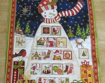 Christmas Advent Calendar - Tall Decorated Snowman