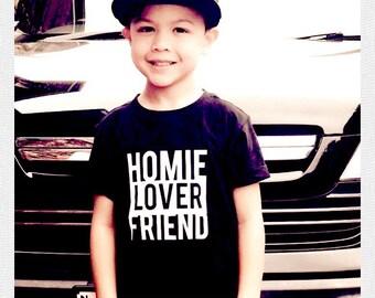 Kids printed Homie, Lover, Friend tee