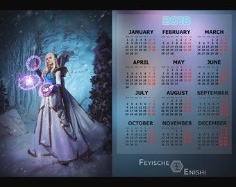 Magna Aegwynn cosplay calendar. Phooshoot inspired by Warcraft.