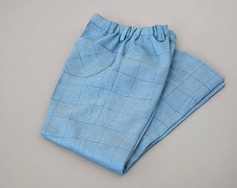 Light blue boys summer suit trousers