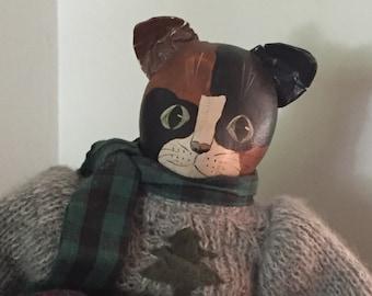 Folk Art Cat ... Free Shipping