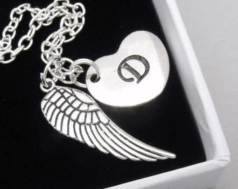 Angel wing remembrance necklace | bereavement necklace | memorial necklace | remembrance jewelry | loss | sympathy gift