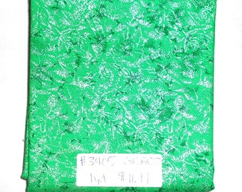 Fairy Frost Fabric - 1yd piece- Grass (green) Fairy Frost  D#CM 0376/Michael Miller (#3405) Great for halloween or christmas projects!