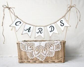 Cards Banner, Burlap Wedding Cards Banner, rustic Wedding banner, cards sign, burlap banner, burlap wedding banner, Wedding Cards Banner,