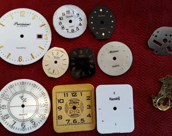 Lot of 9 different Watch Faces for Crafts or Jewelry Making