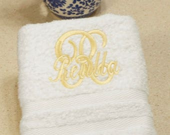 Monogram Hand Towel Set, Personalized Hand Towels, Hostess Gift, Gift for Her, Bathroom Hand Towels