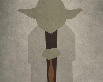 Yoda Minimalism Print