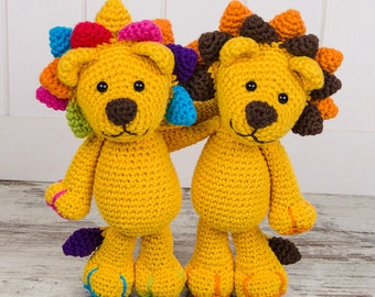Logan the Lion Amigurumi - PDF Crochet Pattern - Instant Download - Amigurumi crochet Cuddy Stuff Plush