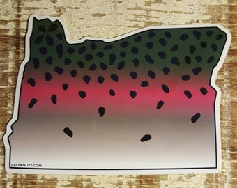 Oregon Rainbow Trout Sticker Decal