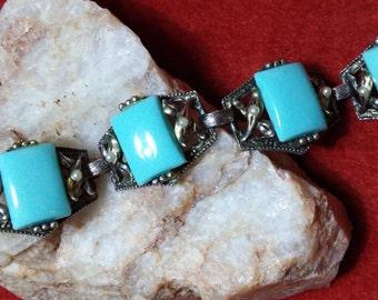 Turquoise & Seed Pearl Bracelet