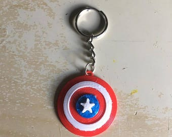 3D Printed Captain America Keychain